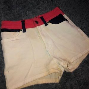BDG multicolored high rise jean shorts!